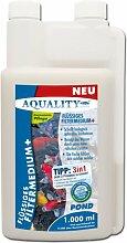 AQUALITY Flüssiges Filtermedium+ POND 1.000 ml (Schafft durch seine natürlichen Zusätze gesundes und kristallklares Gartenteichwasser und sorgt dafür, dass die Fische sich im Gartenteich wohl fühlen und sich vital verhalten)