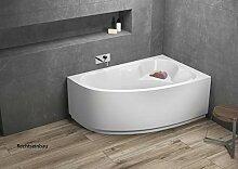 Aqualuxbad Badewanne | Wannen 140 x 80 cm Rechts