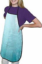 Aquamarin Wandfarbe Kinderschürze mit Taschen