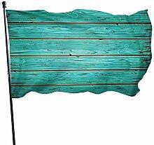 Aquamarine Alte Holz-Wand-Haus-Flagge,