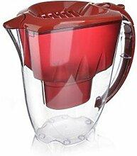 Aquaphor Zeit Wasserfilter-Kanne Kannenfilter mit der Besonderheit (2,8 L Amethyst Rot - mit 3 Filter)