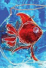 Aquarell Auberginen7 Garten Flagge 30 X 45 cm