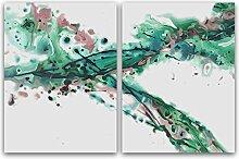 Aquarell Bild Malerei Abstrakte Ölgemälde Auf