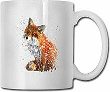 Aquarell Fox Fashion Kaffeetasse Porzellan Tassen