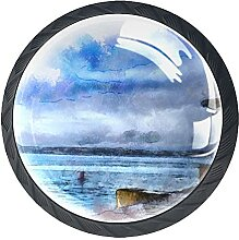 Aquarell Küstenleuchtturm, 4Pack ABS Kommode