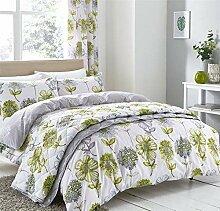 Aquarell Stil Blume Blumen grün einzeln 4-tlg.