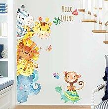 Aquarell Tiere Wandaufkleber Für Kinderzimmer