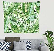 Aquarell Tropisch Blätter Malerei Wandbehang