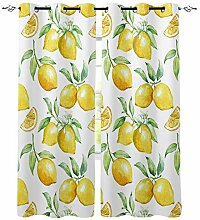 Aquarell Zitronenfrucht Weiß Gelb Fenster