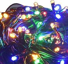 Aquarien Eco Lichterkette Weihnachtsbeleuchtung Weihnachten Garten Party Hochzeit Dekoration Leuchte mit 24V EU Stecker für Innen und Außen (Mehrfarbig 33M 200 LEDs) CLED117