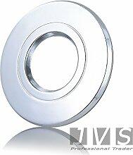 AQUARIS Chrom 230V Außenlampe Einbaustrahler Deckenspots Feuchtraum Badezimmer IP44 (LED 5W(400lm) Warmweiss)