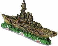 Aquarium Dekoration Destroyer Navy War Ship Boat Wreck Ornamen
