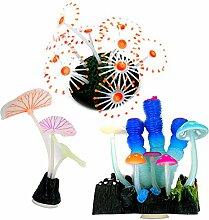 Aquarium-Dekoration, leuchtende Anemone,