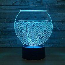 Aquarium Form 3D Nachtlicht LED 3D Illusion Usb