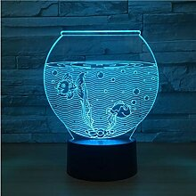 Aquarium Form Acryl 3D Nachtlicht Led Illusion Usb