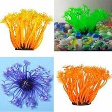 Aquarium Weiche Künstliche Coral Unterwasser-Pflanze Dekoration