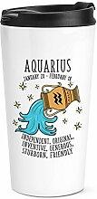 Aquarius Horoskop Reise Becher Tasse