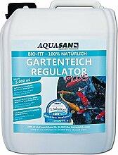 AQUASAN Bio-Fit Gartenteich Regulator PLUS 5.000 ml (GRATIS Lieferung innerhalb Deutschlands - Fördert durch seine spezielle, 100% natürliche Rezeptur, das biologische Gleichgewicht im Gartenteich - Verbessert und stabilisiert deutlich die Wasserqualität - Mikroorganismen)