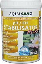 AQUASAN POND pH / KH Stabilisator PLUS 1.000 g (Sorgt für lebenswichtige und stabile Wasserwerte (KH und pH) in Ihrem Gartenteich und sorgt somit für einen stabilen pH Wert im Gartenteich)