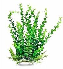 AquaTop Kunststoff elodea-like Aquarium Pflanze, Grün, 40,6cm hoch