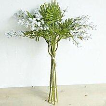 AQW Künstlicher Blumenstrauß, flauschig,