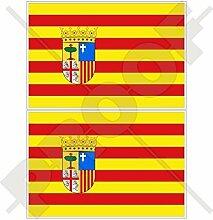 ARAGON Aragonese Flagge SPANIEN Zaragoza Spanisch