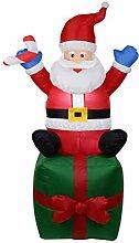 ARAUS Weihnachtsmann-Geschenk Figur Aufblasbar