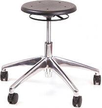 Arbeitshocker Chairsupply 324 schwarz Alu