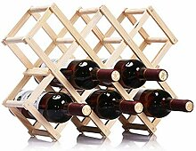 Arbeitsplatte Weinregal 10 Flaschen Faltbarer