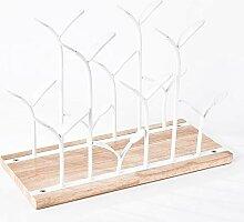 Arbeitsplatte Weinregal Freistehend Holz und