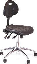 Arbeitsstuhl Chairsupply 280 schwarz Alu