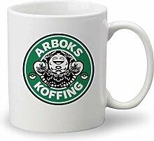 arboks Koffing Pokemon Starbucks Parodie Custom Tasse