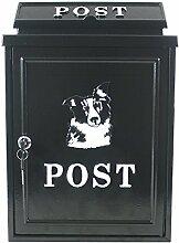 Arboria Wand montiert Gusseisen Mailbox Briefkasten–Hund Design
