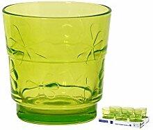 ARC Set Von 6 Glasgläser Grün Funnyflowers 25 Glas Weinglas Und Kelch