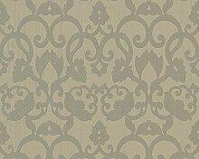 Architects Paper 938372 Vliestapete Trends Home, Mustertapete, kieselgrau, gelbgrau