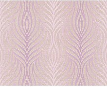 Architects Paper 938481 Vliestapete Trends Home, Mustertapete, altrosa, signalweiß, pastellviolett, metallic