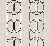 Architects Paper Textilpanel AP Wall Fashion Vliespanel Luxuspanel grafisch 3,20 m x 0,53 m creme metallic Made in Germany 306132 30613-2