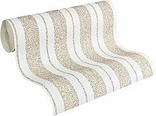 Architects Paper überstreichbare Vliestapete Pigment Quarzit Tapete 10,05 m x 0,53 m weiß Made in Germany 954619 9546-19