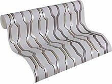 Architects Paper Vliestapete AP 2000 Design by F.A. Porsche Tapete Vertical puristisch 10,05 m x 0,53 m grau metallic schwarz Made in Germany 303471 30347-1