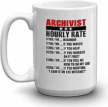 ARCHIVIST Kaffee-Haferl - ARCHIVIST HOURLY RATE