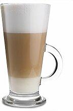 Arcoroc ARC G3871 Latino Kaffeeglas mit Henkel,