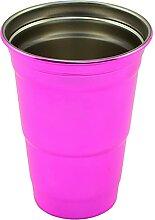 Arctica - Partybecher aus Edelstahl (rosa)