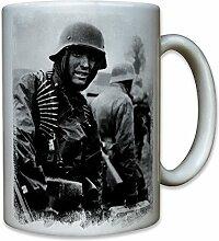 Ardennenoffensive deutscher Soldat WK 2 Belgien Battle of the Bulge Rundstedt Bild Foto Portrait - Tasse Becher Kaffee #8584