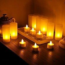 ARDUX Flammenlose LED-Kerzen, wiederaufladbare