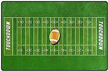 Area Rug 60x39 Zoll American Football Feld Sport