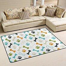 Area Rug Teppich Fußmatte 72x48 Zoll Hund