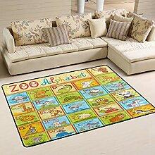 Area Rug Teppich Fußmatte 72x48 Zoll Kinder