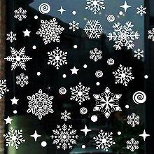 Areally Schneeflocken-Aufkleber für Weihnachten,