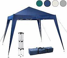 Arebos Pavillon faltbar / schneller Aufbau dank Falttechnik / Wasserabweisend / UV-Schutz / verschiedene Farben (Blau)