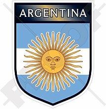 ARGENTINA Argentinischer Schild 100mm Auto & Motorrad Aufkleber, Vinyl Sticker